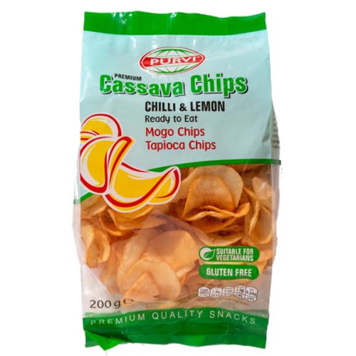 Purvi Cassava Chips Chilli Lemon