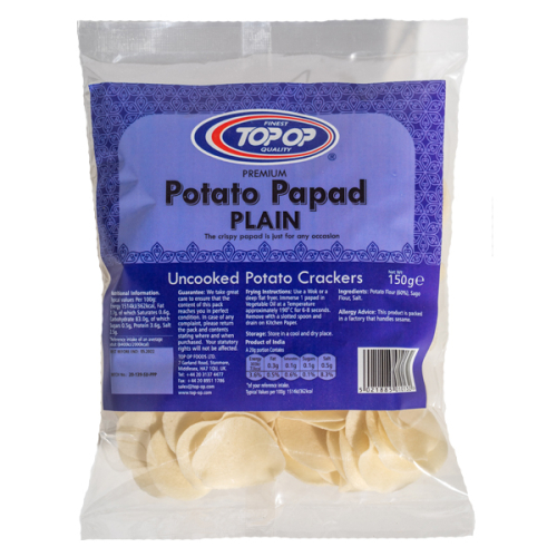 Top-Op Potato Papad Plain