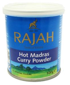 Rajah Madras Curry Hot Tins