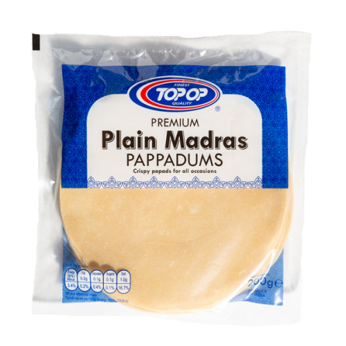Top-Op Madras Papad 6 Inch