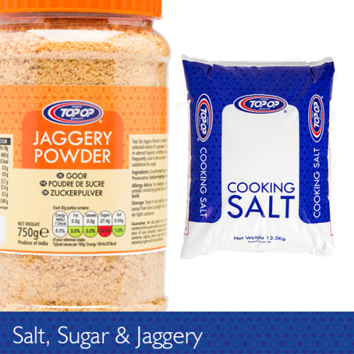 Salt, Jaggery & Sugar