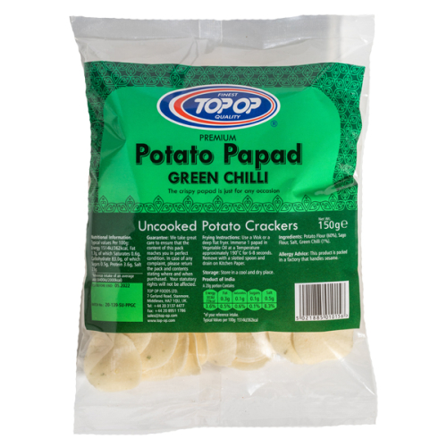 Top-Op Potato Papad Green Chilli