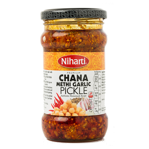 Niharti Chana Methi Garlic Pickle
